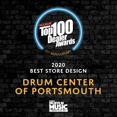 "DRUM CENTER OF PORTSMOUTH WINS ""BEST STORE DESIGN"" AWARD FOR 2020"