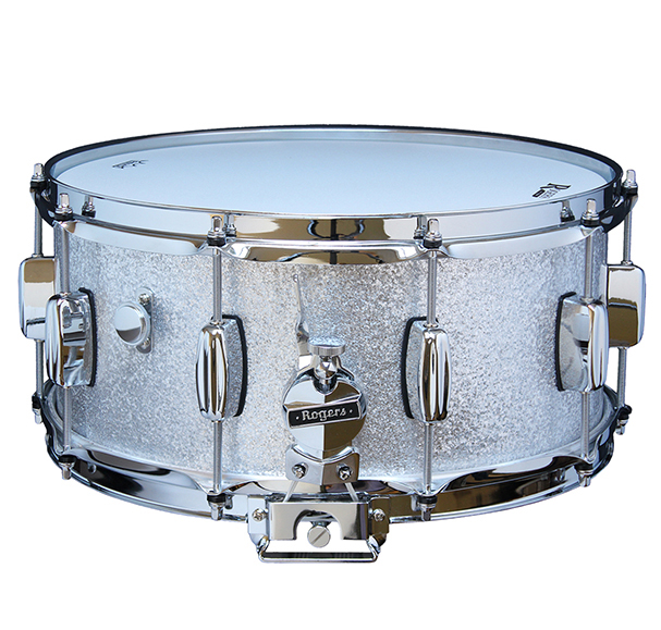 rogers dyna sonic wood shell snare drum 14x6 5 silver sparkle 471898102662 ebay. Black Bedroom Furniture Sets. Home Design Ideas
