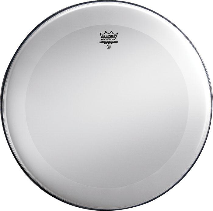 Smooth White 22 Diameter Remo Powerstroke 3 Dynamo No Stripe