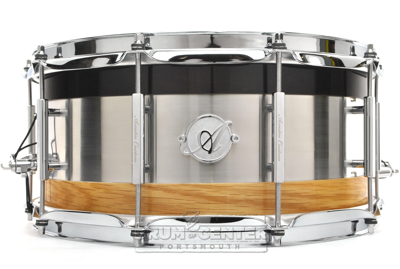 acoutin ply wenge brushed stainless steel oak snare drum 14x6 5 ebay. Black Bedroom Furniture Sets. Home Design Ideas