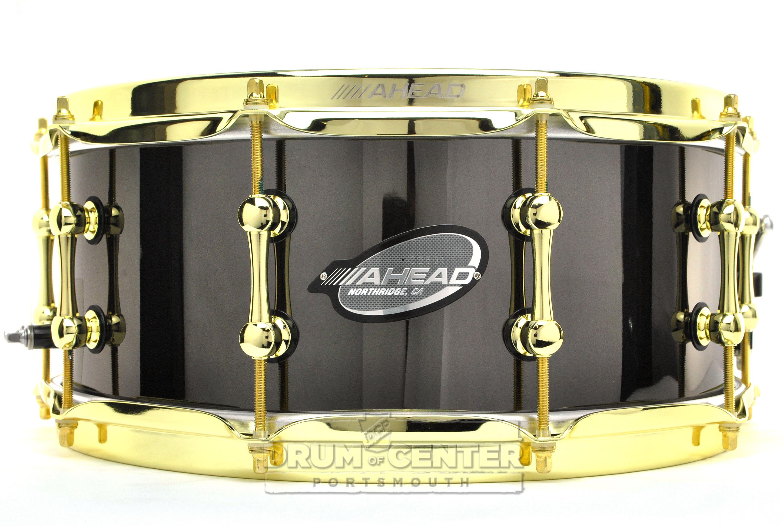 Ahead Bell Brass Snare Drum 14x6 Black Chrome W/ Brass ...