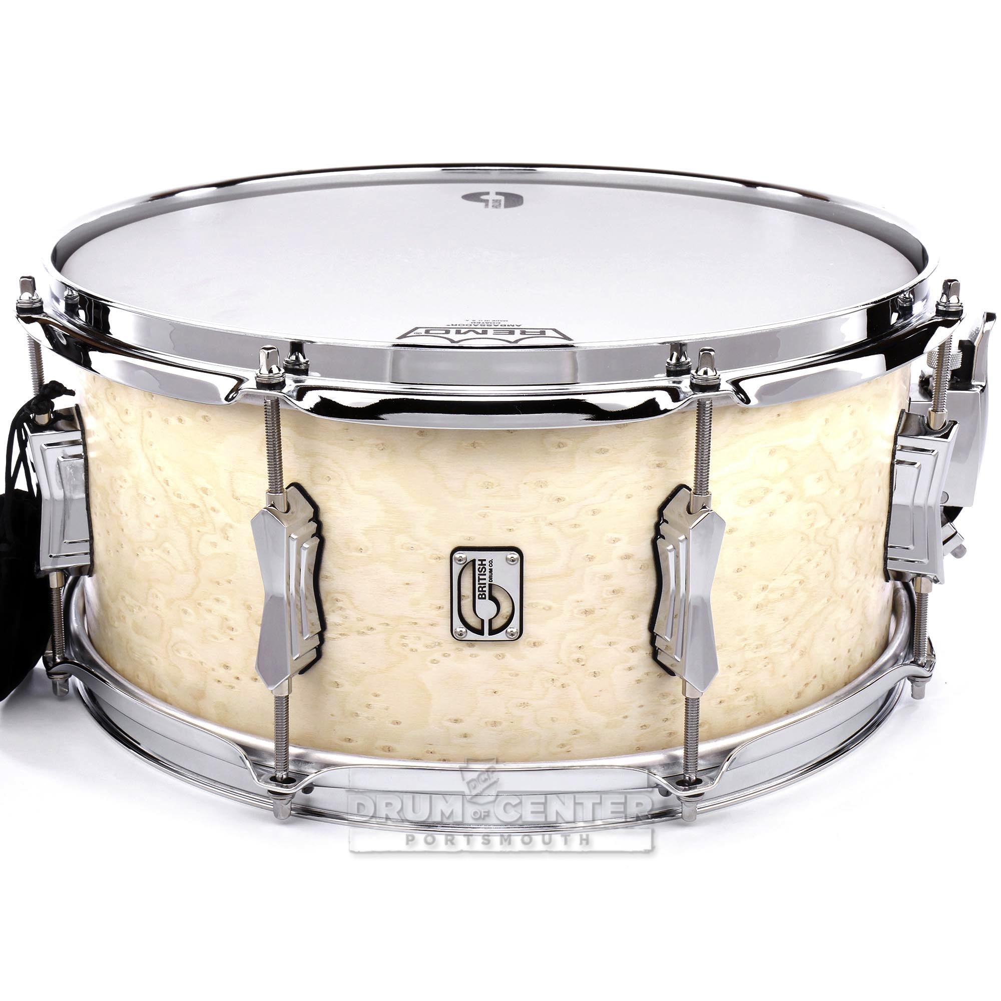british drum company lounge series snare drum wiltshire white 14x6 5 882030238604 ebay. Black Bedroom Furniture Sets. Home Design Ideas