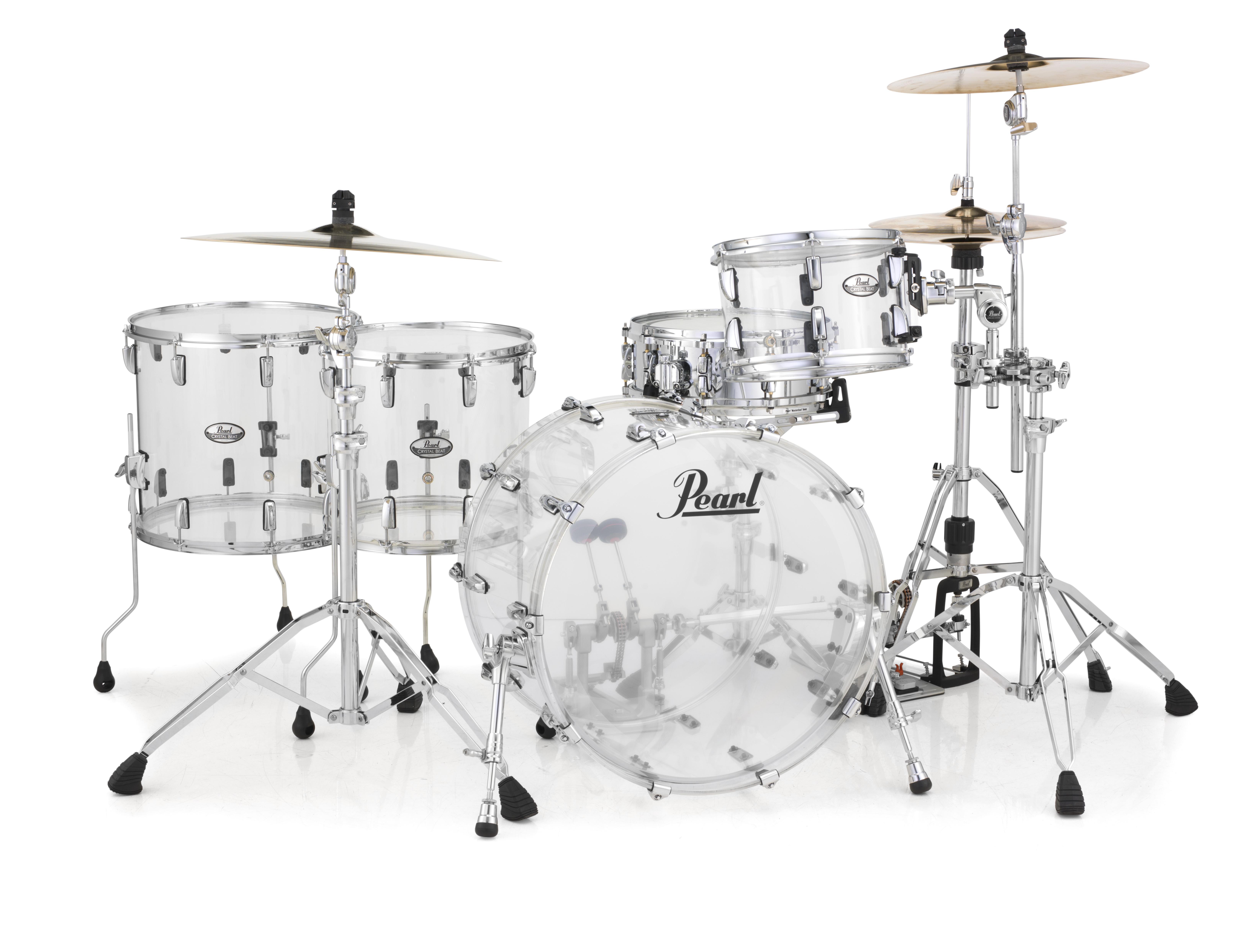 Pearl Crystal Beat Acrylic Drum Set 22/12/14/16 Ultra