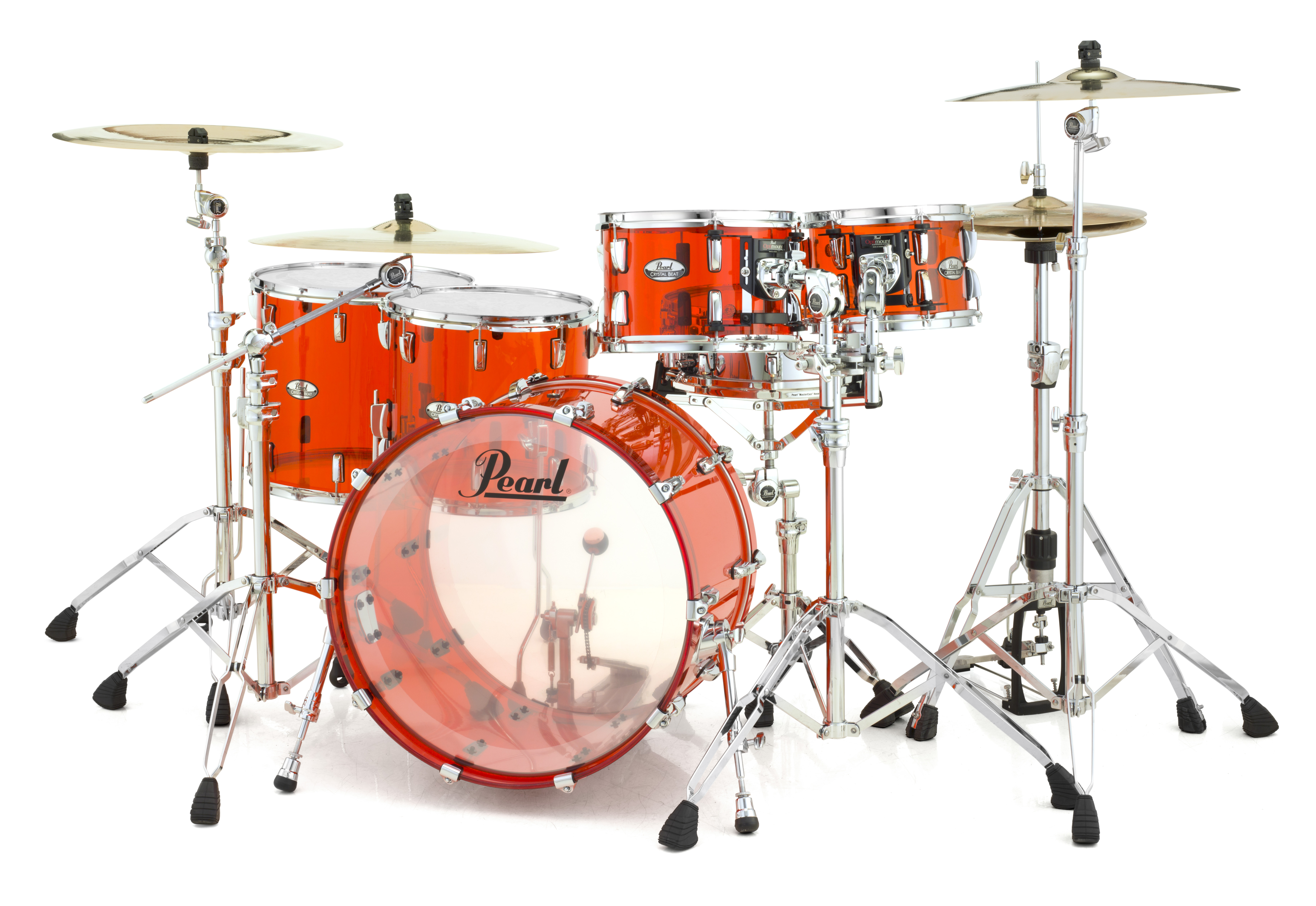 Pearl Crystal Beat Acrylic Drum Set 22/10/12/14/16 Ruby