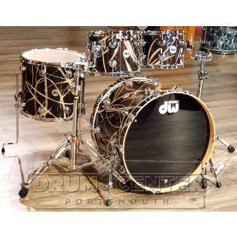 DW Collectors Maple 4pc Drum Set Smoke Glass Contrails