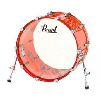 Pearl Crystal Beat Acrylic Bass Drum 22x16 Ruby Red