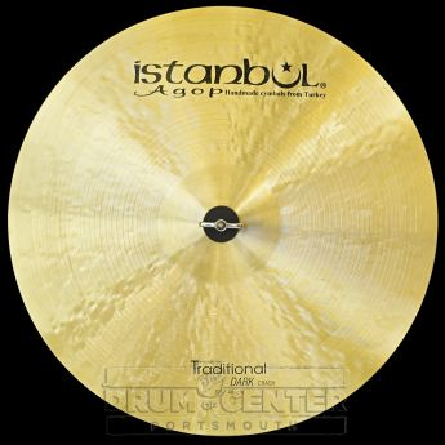 "Istanbul Agop Traditional Dark Crash Cymbal 19"""