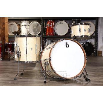 British Drum Company Lounge Series Club 3pc Drum Set 12/16/22 - Wiltshire White