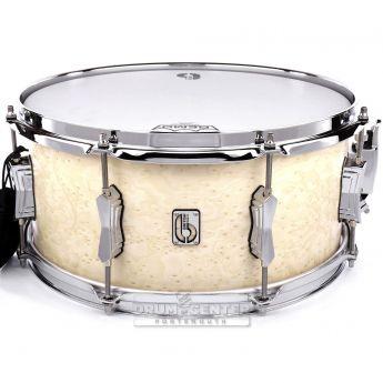 British Drum Company Lounge Series Snare Drum - Wiltshire White 14x6.5