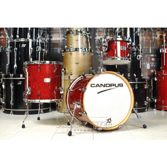 Canopus Yaiba 3pc Bop Kit Dark Red Sparkle Lacquer