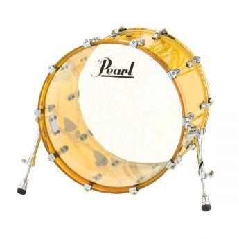 Pearl Crystal Beat Acrylic Bass Drum 24x14 Tangerine Glass