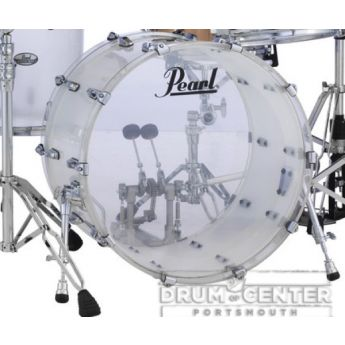 Pearl Crystal Beat Acrylic Bass Drum 20x15 Frosted