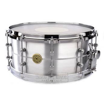 Gretsch USA Solid Aluminum Snare Drum 14x6.5 w/Tube Lugs