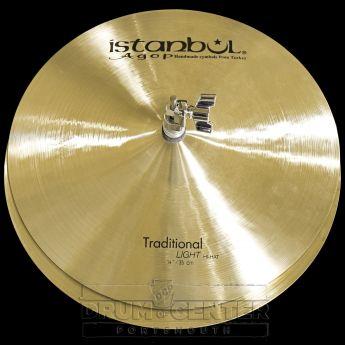 "Istanbul Agop Traditional Light Hi Hat Cymbals 14"""