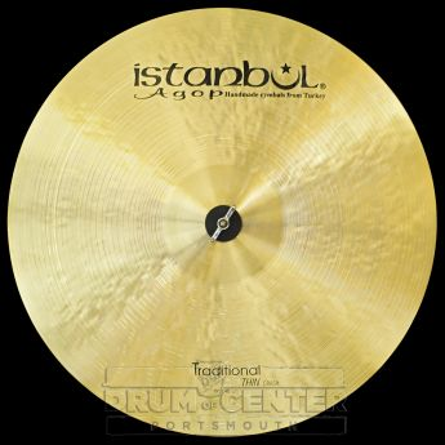 "Istanbul Agop Traditional Thin Crash Cymbal 19"" 1555 grams"
