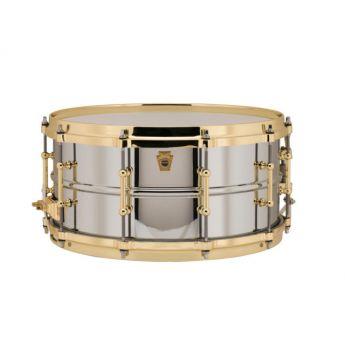 Ludwig Supraphonic Chrome Over Brass Snare Drum w/ Brass Trim & P86 14x6.5
