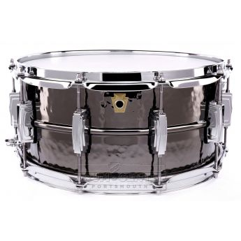 Ludwig Black Beauty Hammered Snare Drum 6.5x14