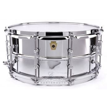 Ludwig Supraphonic Chrome Over Brass Snare Drum w/ Tube Lugs 14x6.5