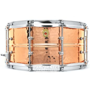 Ludwig Copper Phonic Snare Drum 14x6.5 Hammered w/ Tube Lugs
