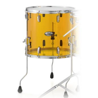 Pearl Crystal Beat Acrylic Floor Tom 16x15 Tangerine Glass