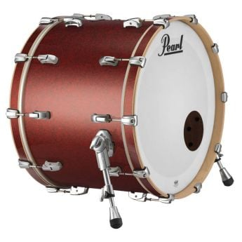 """Pearl 22""""x18"""" Reference Series Bass Drum w/o BB3 - Red Glass"""