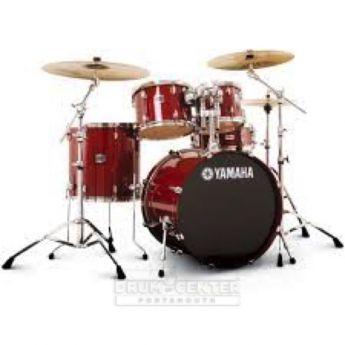 "Yamaha Stage Custom Birch 5pc Drum Set w/ 20"" BD Cranberry Red"
