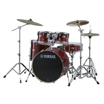 "Yamaha Stage Custom Birch 5pc Drum Set w/ 22"" BD Cranberry Red"