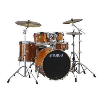 "Yamaha Stage Custom Birch 5pc Drum Set w/ 22"" BD Honey Amber"