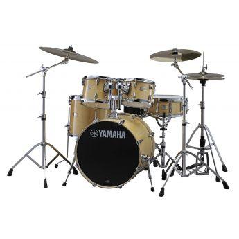 "Yamaha Stage Custom Birch 5pc Drum Set w/ 22"" BD Natural Wood"