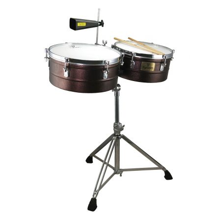 Tycoon 14 inch. & 15 inch. Splashed Copper Timbales