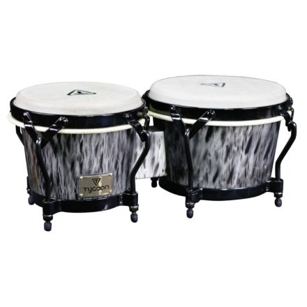 Tycoon Percussion Supremo Select Series Kinetic Steel Finish Bongos 7 inch. & 8-1/2 inch.