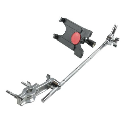 Gibraltar Tablet Mount with Long Boom Arm and Grabber Clamp