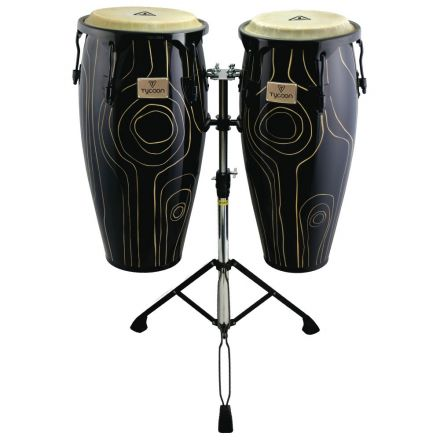Tycoon Percussion 10&11 Supremo Select Cyclone Series Congas with Double Stand