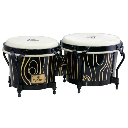 Tycoon Percussion 7&8 1/2 Supremo Select Cyclone Series Bongos with Black Steel Hardware