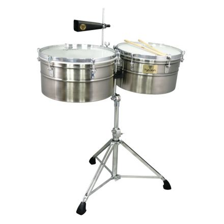 Tycoon Percussion 15&16 Deep-Shell Brushed Chrome Timbales Set