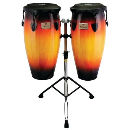 Tycoon Percussion 10&11 Supremo Sunburst Series Congas with Double Stand