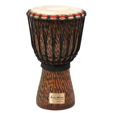 Tycoon Percussion 10 Chiseled Orange Series Djembe