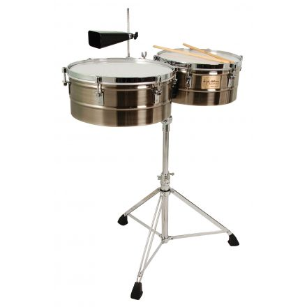 Tycoon Percussion 14 & 15 Brushed Chrome Shell Timbales