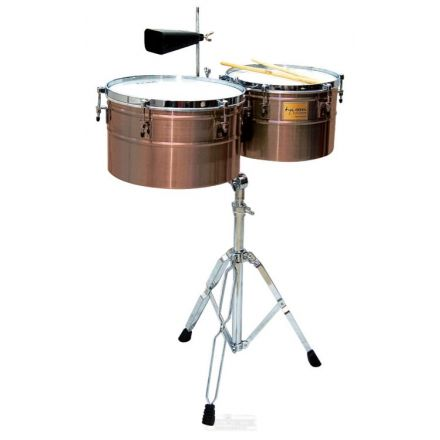 Tycoon Deep-shell Antique Copper Finish Timbales