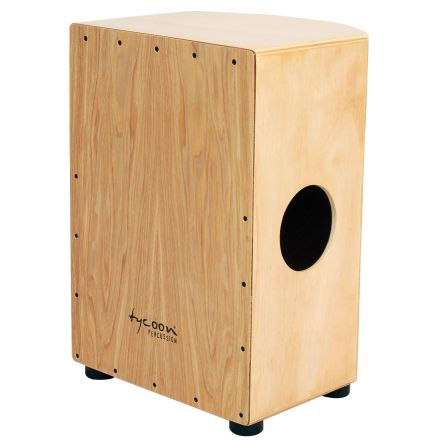 Tycoon Percussion 35 Roundback Series Cajon With North American Ash Front Plate