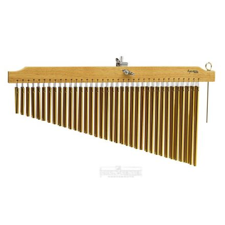 Tycoon 72 Gold Chimes With Natural Finish Wood Bar