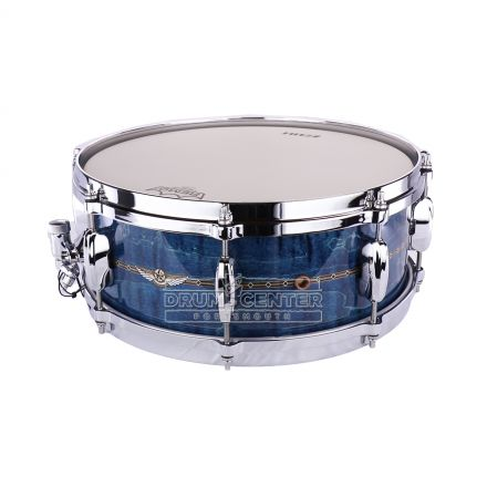 Tama Star Maple Snare Drum - 14x5.5 - Ocean Blue Curly Maple