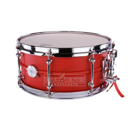 Dunnett Classic 2N Carbon Steel Snare Drum 14x6.5 - Texture Red