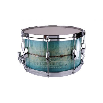 Tama Star Maple Snare Drum - 14x8 - Emerald Sea Curly Maple Burst - Chrome Shell Hardware - Outside Shell Inlay