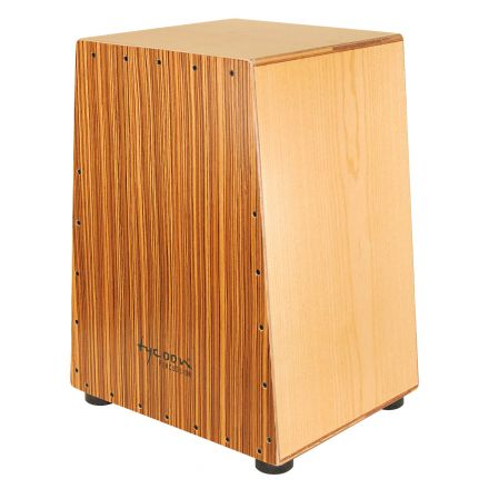 Tycoon Vertex Series Cajon With American Ash Body And Zebrano Front
