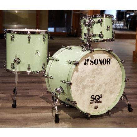 Sonor SQ2 Vintage Maple 3pc Drum Set Mint Sparkle
