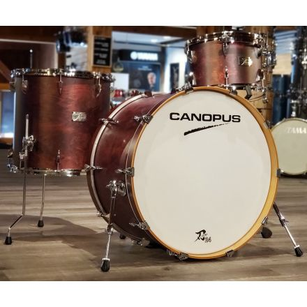 Canopus Yaiba 24 3pc Drum Set - Dark Wine Red Matte Lacquer - 24/13/16