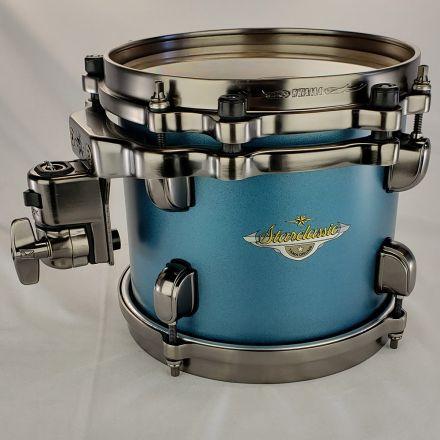 Tama Starclassic Maple 8x7 Tom Flat Steel Blue Metallic with Smoked Black Nickel Hardware