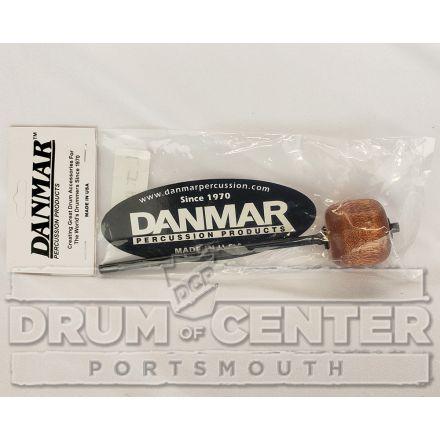 Danmar Bass Drum Pedal Beater - Sunburst Hardwood W/ Angle Cut, Black Shaft
