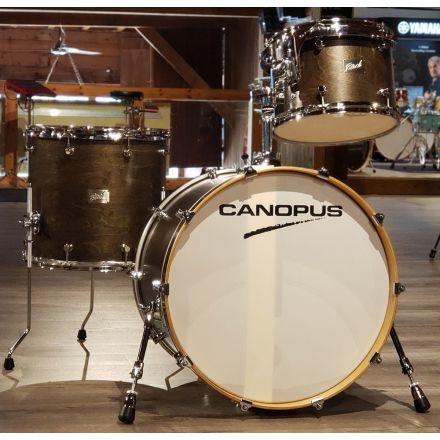 Used Canopus Birch 3pc Drum Set Ebony Matte Lacquer